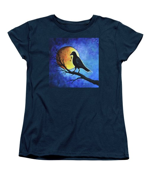 Raven With Key Women's T-Shirt (Standard Cut) by Agata Lindquist