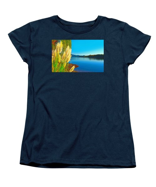 Ravenna Grass Smith Mountain Lake Women's T-Shirt (Standard Cut) by The American Shutterbug Society