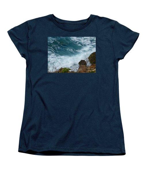 Raw Blue Power Women's T-Shirt (Standard Cut) by Margaret Brooks