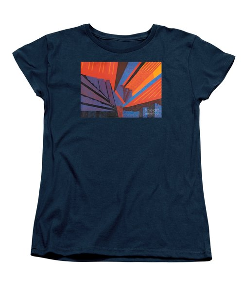 Rays Floor Cloth Women's T-Shirt (Standard Cut) by Judith Espinoza