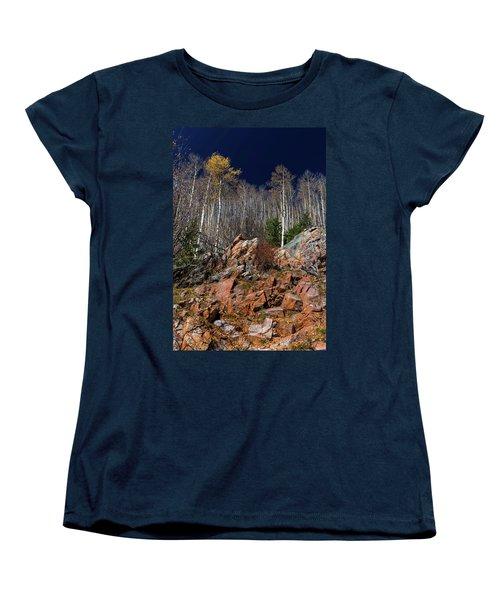 Reaching Into Blue Women's T-Shirt (Standard Cut) by Stephen Anderson