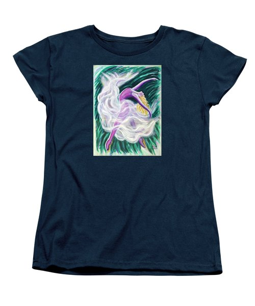 Women's T-Shirt (Standard Cut) featuring the painting Reaching Out by Anya Heller