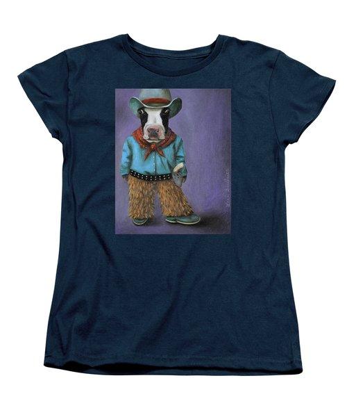 Real Cowboy Women's T-Shirt (Standard Cut) by Leah Saulnier The Painting Maniac