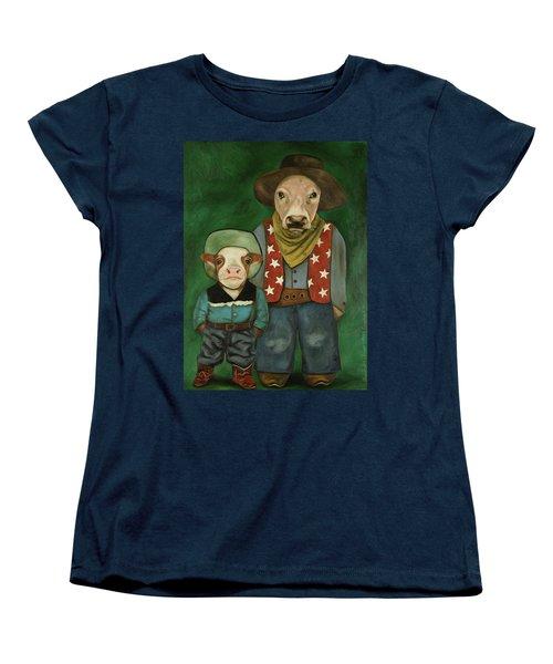 Real Cowboys 3 Women's T-Shirt (Standard Cut) by Leah Saulnier The Painting Maniac