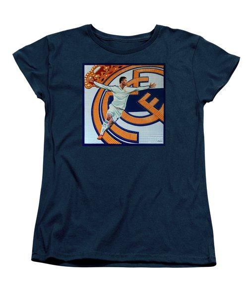 Real Madrid Painting Women's T-Shirt (Standard Cut) by Paul Meijering
