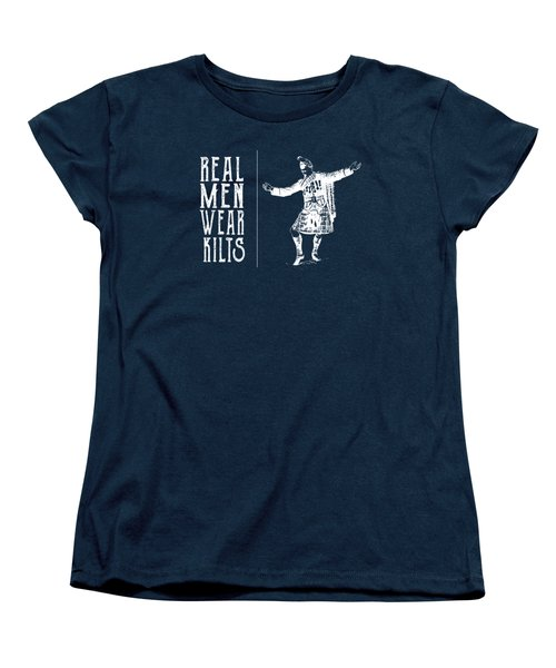 Real Men Wear Kilts Women's T-Shirt (Standard Cut) by Heather Applegate