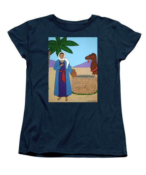 Women's T-Shirt (Standard Cut) featuring the painting Rebecca At The Well by Stephanie Moore