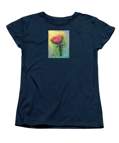 Women's T-Shirt (Standard Cut) featuring the mixed media Reborn by Terry Webb Harshman