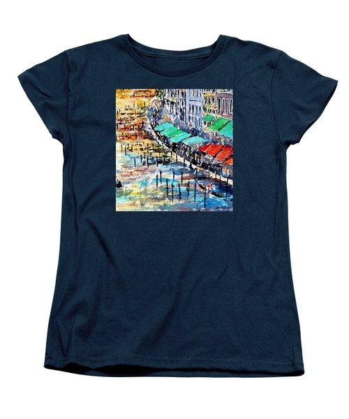 Women's T-Shirt (Standard Cut) featuring the painting Recalling Venice 02 by Alfred Motzer
