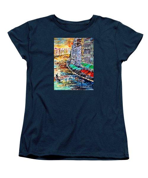Women's T-Shirt (Standard Cut) featuring the painting Recalling Venice 03 by Alfred Motzer