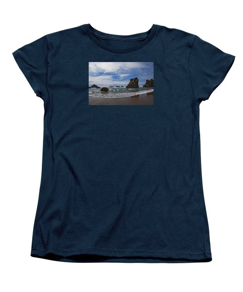 Receding Wave Women's T-Shirt (Standard Cut) by Adria Trail