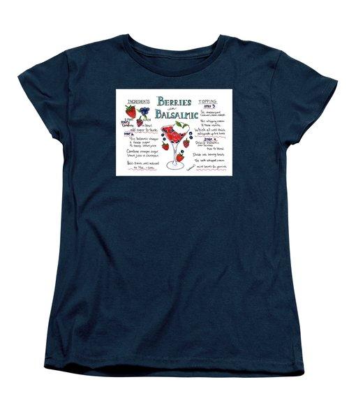Recipe- Berries In Balsamic Women's T-Shirt (Standard Cut)