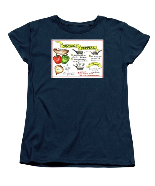 Recipe Sausage And Peppers Women's T-Shirt (Standard Cut)