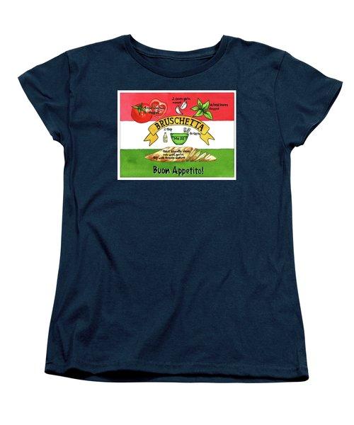 Recpe-bruschetta Women's T-Shirt (Standard Cut)