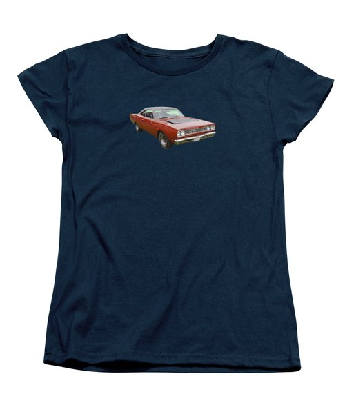 Red 1968 Plymouth Roadrunner Muscle Car Women's T-Shirt (Standard Cut) by Keith Webber Jr