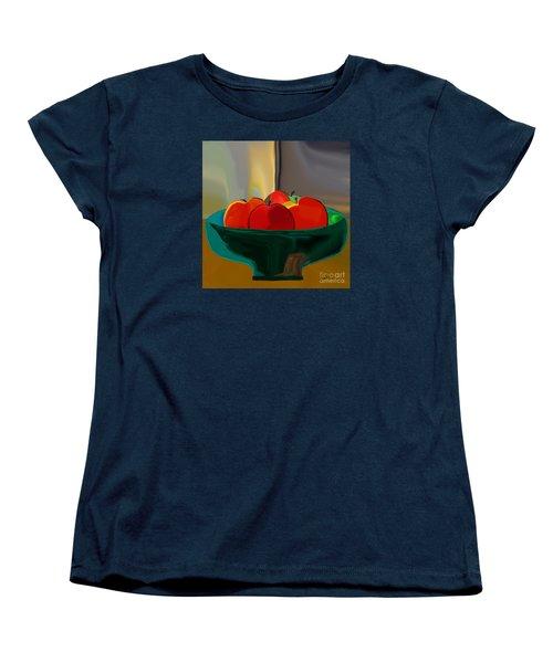 Red Apples Fruit Series Women's T-Shirt (Standard Cut) by Haleh Mahbod