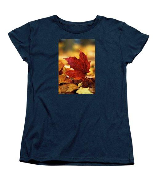 Red Autumn Women's T-Shirt (Standard Cut) by Gary Bridger