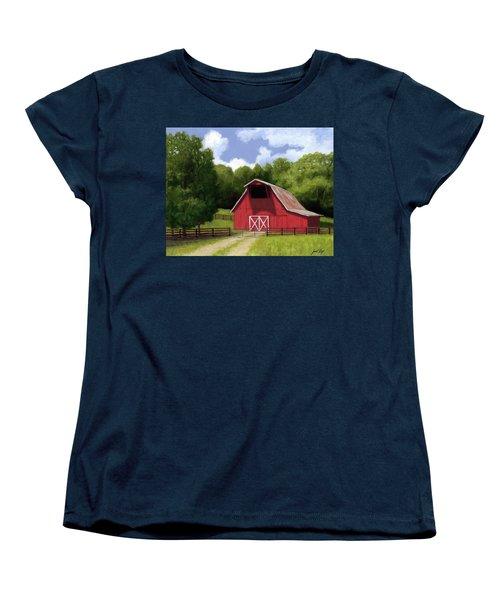 Red Barn In Franklin Tn Women's T-Shirt (Standard Cut)