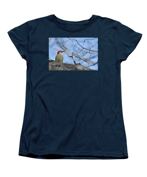Women's T-Shirt (Standard Cut) featuring the photograph Red-bellied Woodpecker 1137 by Michael Peychich