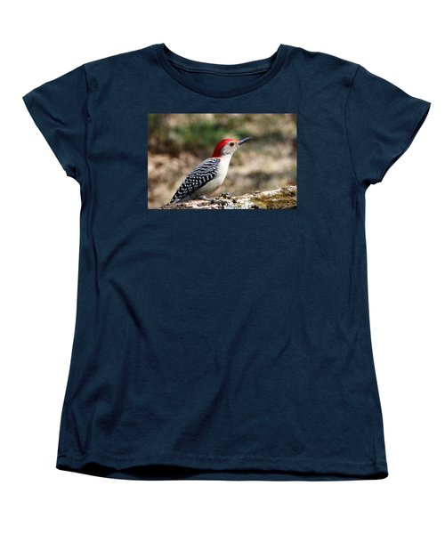 Red-bellied Woodpecker Women's T-Shirt (Standard Cut) by Sheila Brown