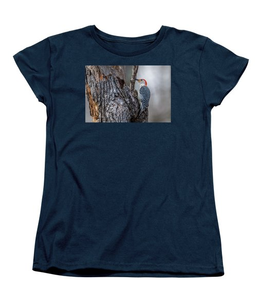 Women's T-Shirt (Standard Cut) featuring the photograph Red Bellied Woody by Paul Freidlund