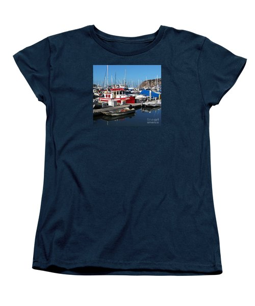 Women's T-Shirt (Standard Cut) featuring the photograph Red Boat by Cheryl Del Toro