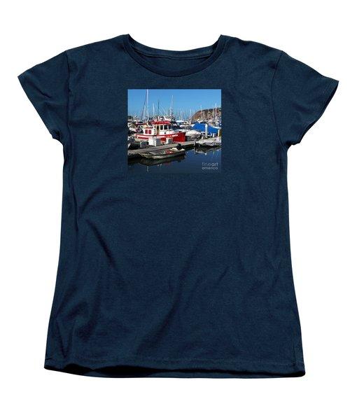Red Boat Women's T-Shirt (Standard Cut) by Cheryl Del Toro