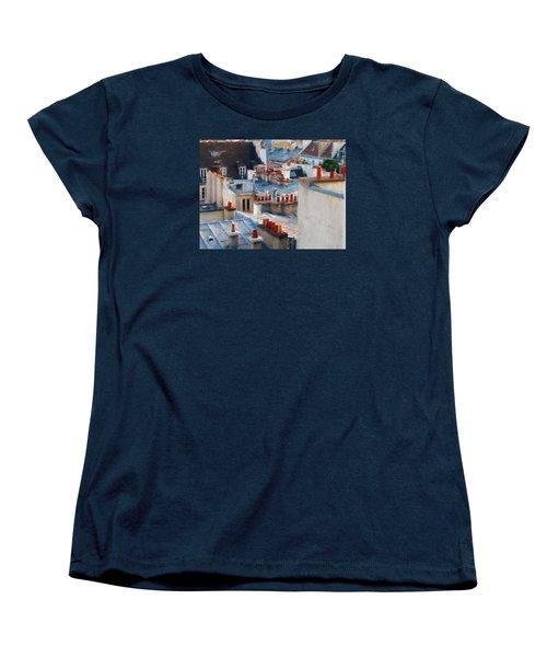 Women's T-Shirt (Standard Cut) featuring the photograph Red Chimneys by John Rivera