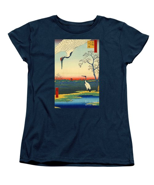Red Crowned Cranes 1857 Women's T-Shirt (Standard Cut) by Padre Art