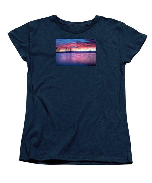 Red Dawn Women's T-Shirt (Standard Cut) by Fiskr Larsen