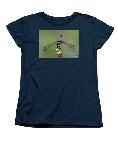 Women's T-Shirt (Standard Cut) featuring the photograph Red Eyed Dragonfly by Myrna Bradshaw