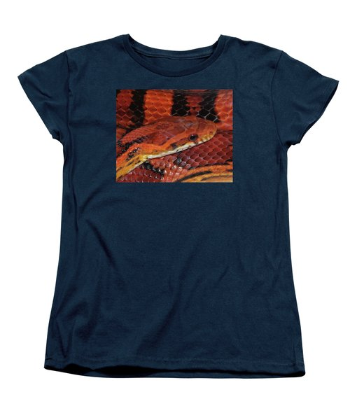 Red Eyed Snake Women's T-Shirt (Standard Cut) by Patricia McNaught Foster