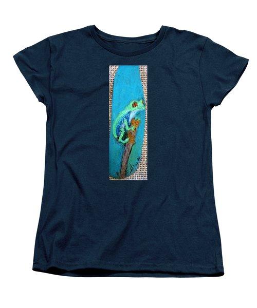 Red-eyed Tree Frog Women's T-Shirt (Standard Cut) by Ann Michelle Swadener