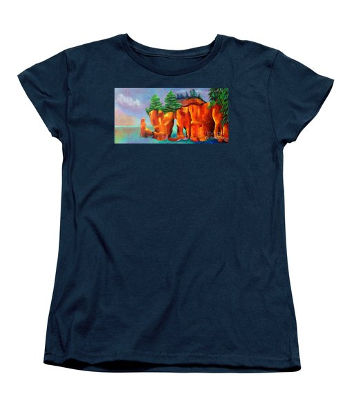 Red Fjord Women's T-Shirt (Standard Cut) by Elizabeth Fontaine-Barr
