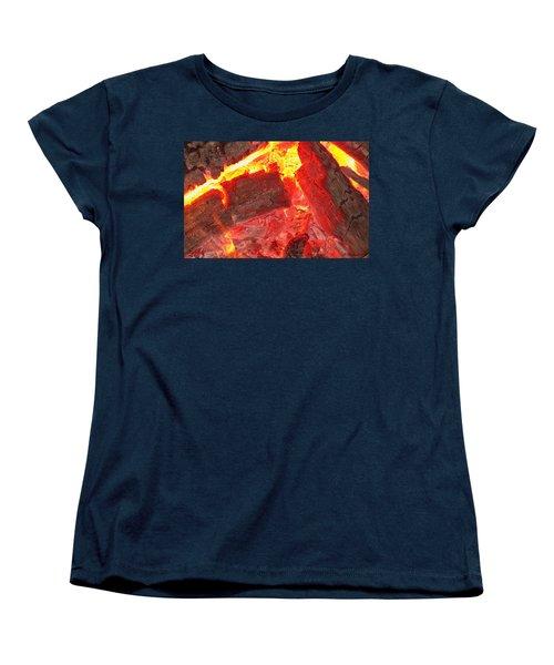 Women's T-Shirt (Standard Cut) featuring the photograph Red Hot by Betty Northcutt