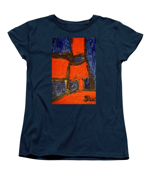 Red Lamps Women's T-Shirt (Standard Cut) by Shea Holliman