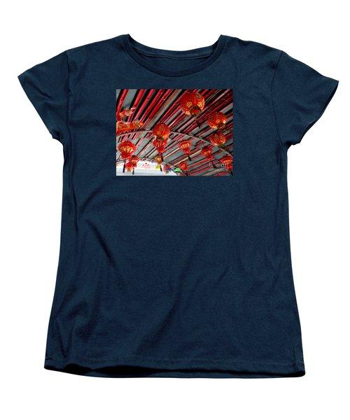 Women's T-Shirt (Standard Cut) featuring the photograph Red Lanterns 1 by Randall Weidner