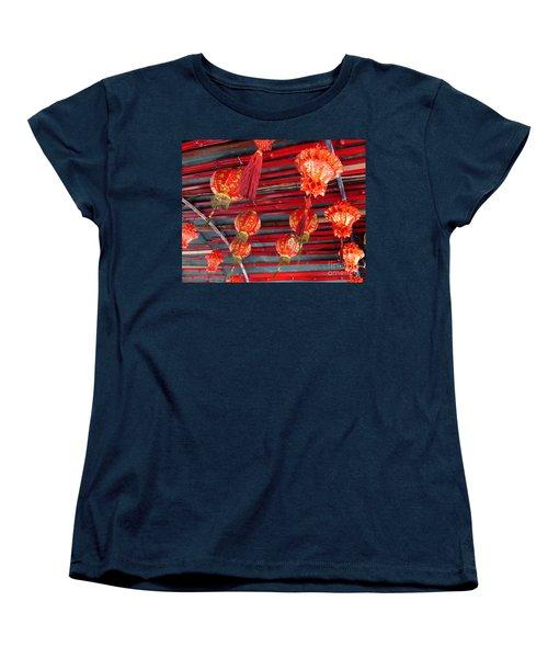 Women's T-Shirt (Standard Cut) featuring the photograph Red Lanterns 2 by Randall Weidner