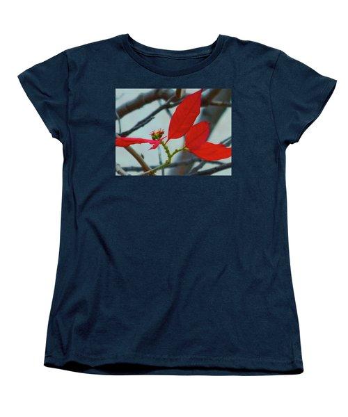 Red Leaves Women's T-Shirt (Standard Cut) by Beto Machado