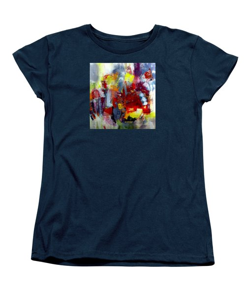 Women's T-Shirt (Standard Cut) featuring the painting Red Light by Katie Black