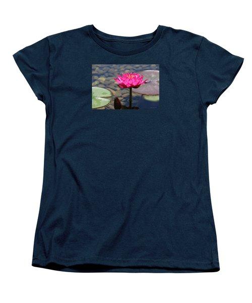 Red Lotus Women's T-Shirt (Standard Cut) by Debra     Vatalaro
