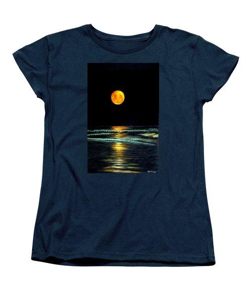 Red Moon Rising Women's T-Shirt (Standard Cut) by Antonia Citrino