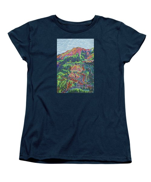 Red Mountain Women's T-Shirt (Standard Cut) by Robert SORENSEN