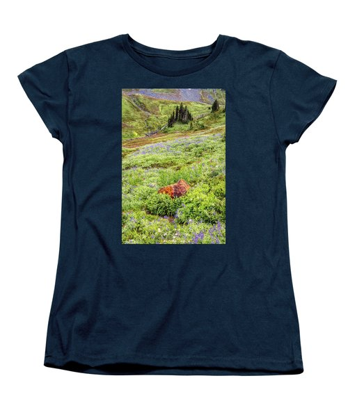 Women's T-Shirt (Standard Cut) featuring the photograph Red Rock Of Rainier by Pierre Leclerc Photography