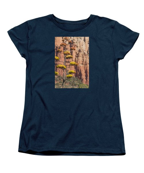 Red Rocks And Century Plant Women's T-Shirt (Standard Cut)