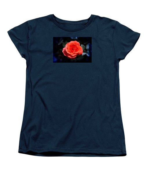 Red Rose Art Women's T-Shirt (Standard Cut) by Milena Ilieva