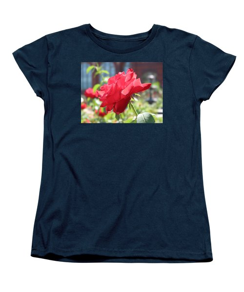 Red Rose Women's T-Shirt (Standard Cut) by Brian McDunn