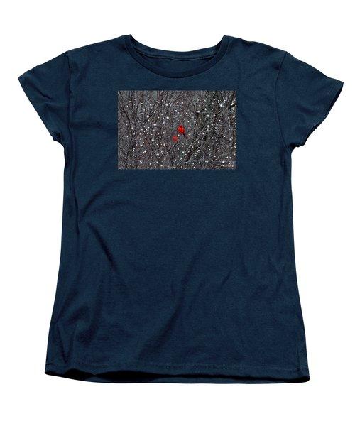 Red Snow Women's T-Shirt (Standard Cut) by Bill Stephens