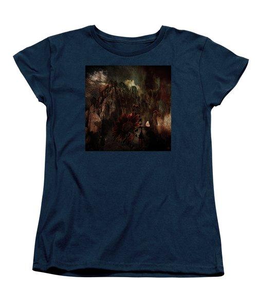 Red Sunflower Women's T-Shirt (Standard Cut)