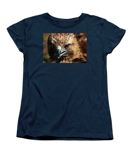 Women's T-Shirt (Standard Cut) featuring the photograph Red-tail Hawk Portrait by Anthony Jones